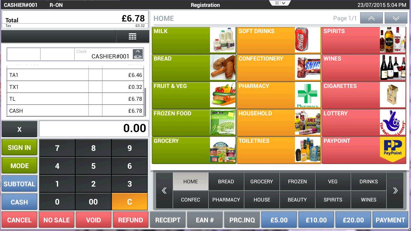 Retail Shop Epos Till Systems Cash Register Tablet Apps